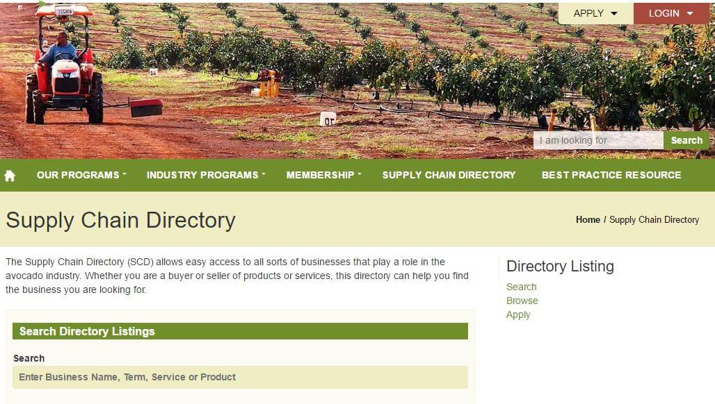 supply chain directory