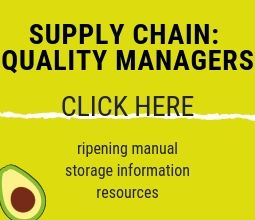 Information for supply chain representatives handling Australian avocados