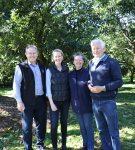 John Tyas, Elise Kinsella, Lindy & John Williams in the shade of the Money Tree