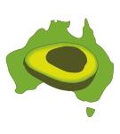 Avocados Australia logo (map)
