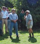 Andy Veal during the walk at his orchard this month